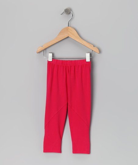 Baby Eggi Bright Rose Twist Leggings - Toddler & Girls