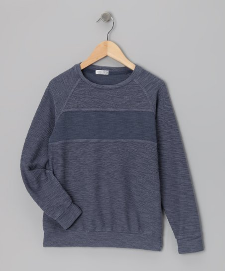 Baby Eggi Folkstone Gray Stripe Sweatshirt - Toddler & Boys