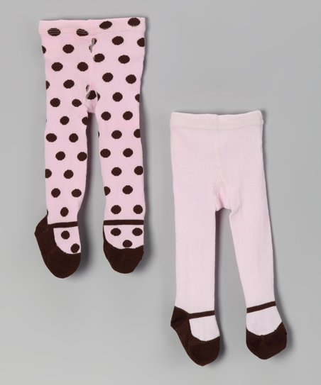 Pink Polka Dot Mary Jane Tights Set
