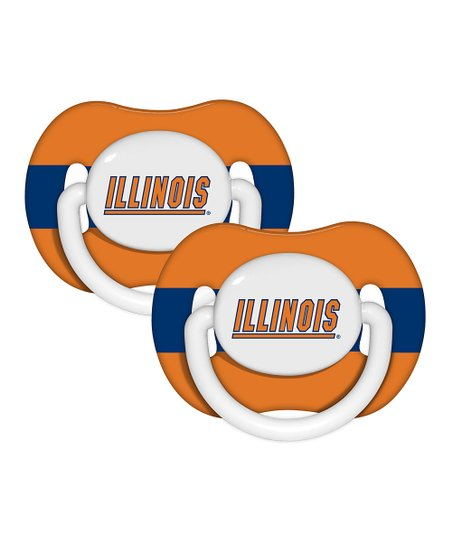 University of Illinois Pacifier - Set of Two