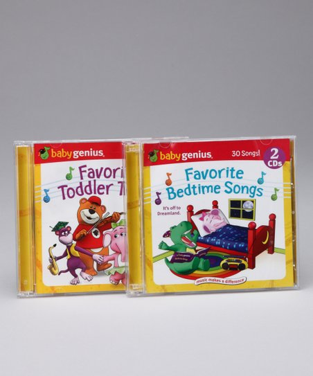 Favorite Bedtime Songs & Favorite Toddler Tunes CD Set