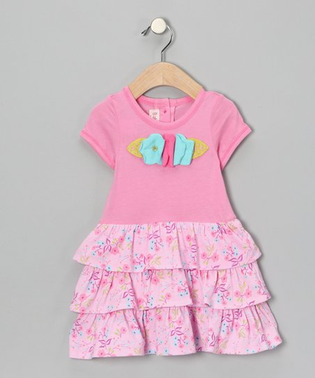 Pink Flower Ruffle Dress - Infant & Toddler