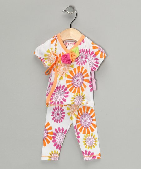 Cream Bliss Patty Wrap Top & Pants - Infant