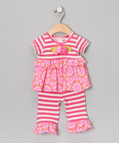 Fuchsia Flower Tunic & Pants - Infant