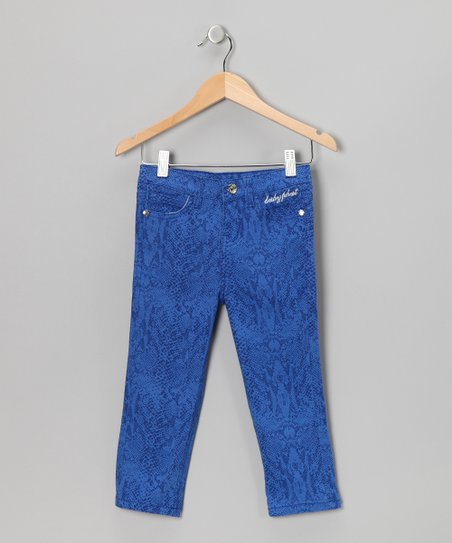 Surf Royal Snakeskin Skinny Jeans - Girls