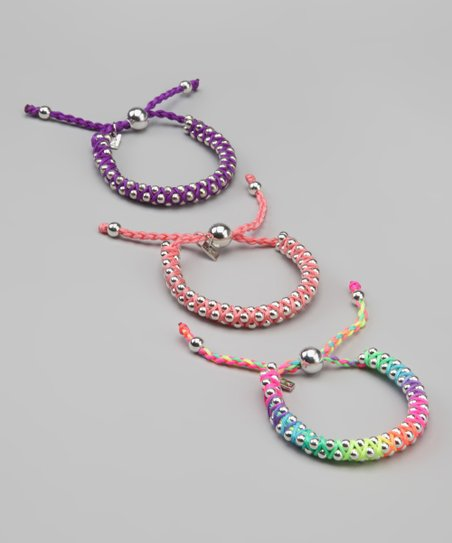 Purple & Pink Princess Friendship Bracelet Set