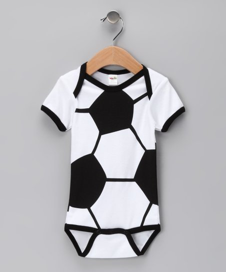 Black & White Soccer Ball Bodysuit