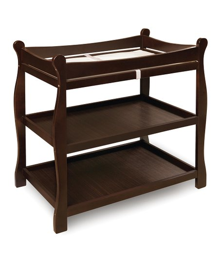 Espresso Sleigh Changing Table