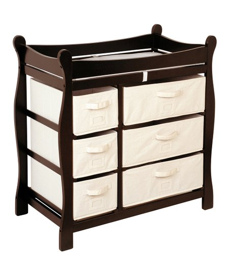 Espresso Sleigh Six-Drawer Changing Table