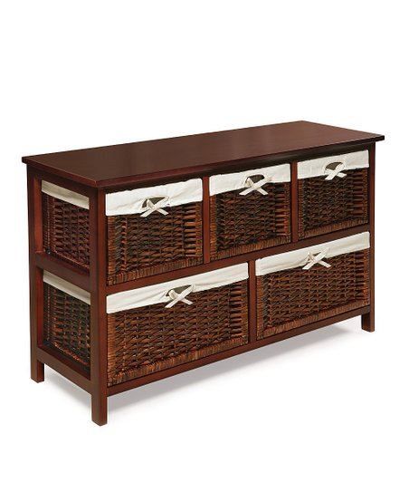 Cherry Five-Drawer Storage Unit