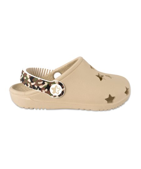 Beige Foam Cutout Clog