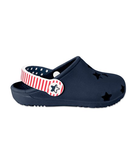 Navy Foam Cutout Clog