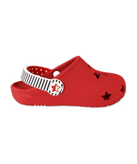 Red Foam Cutout Clog