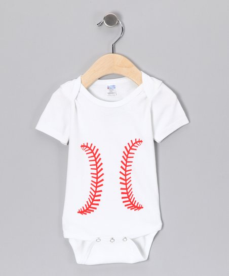 White Baseball Bodysuit - Infant