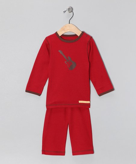 Red Guitar Organic Tee & Yoga Pants - Infant & Toddler