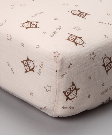 Night Owl Organic Muslin Crib Sheet