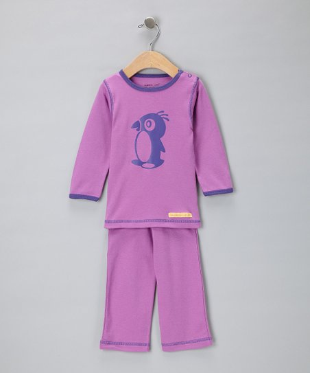 Berry Penguin Organic Tee & Yoga Pants - Infant