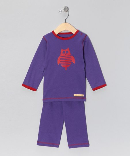 Purple Owl Organic Tee &amp; Yoga Pants - Infant