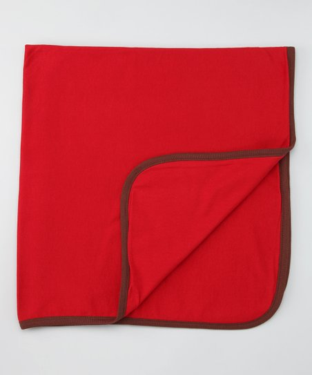 Red Double-Layer Organic Receiving Blanket