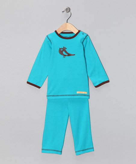 Teal Bird Organic Tee & Yoga Pants - Toddler