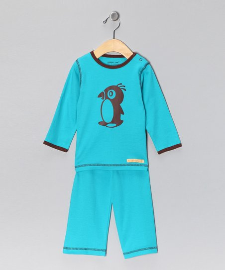 Teal Penguin Organic Tee & Yoga Pants - Toddler