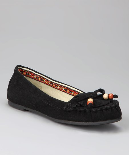 Bamboo Black Bead Moccasin