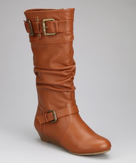 Chestnut Double-Buckle Boot