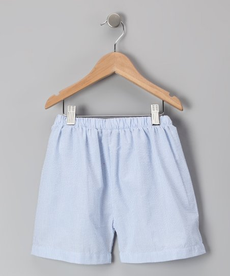 Light Blue Seersucker Shorts - Infant, Toddler & Kids