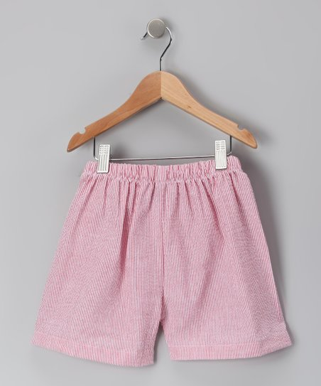 Red Seersucker Shorts - Infant & Toddler