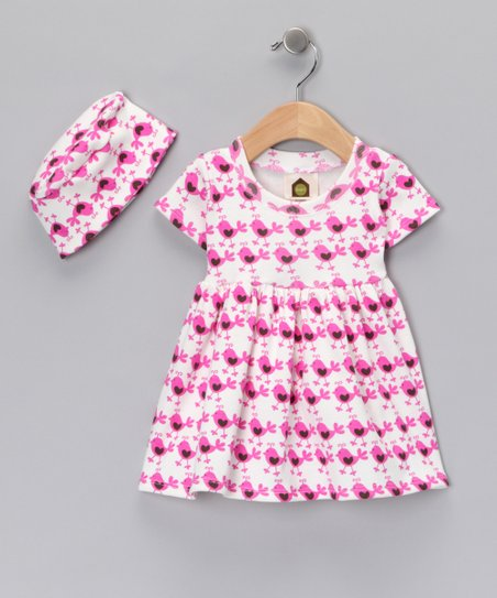 Pink Chick Organic Dress & Beanie - Infant