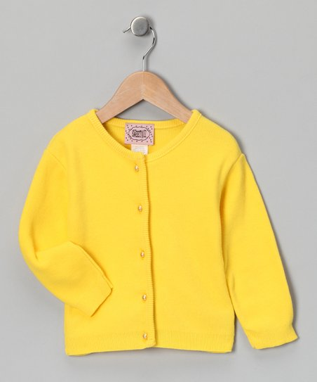 Yellow Button-Up Cardigan - Toddler & Girls