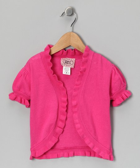 Fuchsia Open Cardigan - Girls