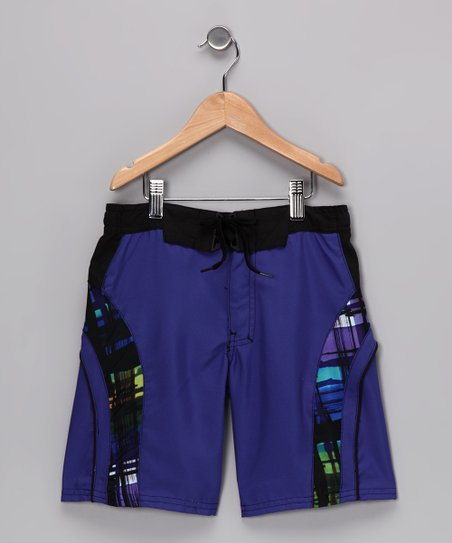 Blueberry Borealis Boardshorts - Boys