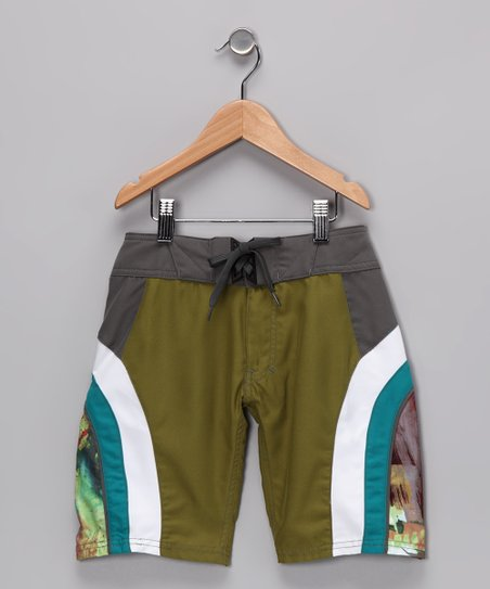 Moss & White Side Panel Boardshorts - Boys