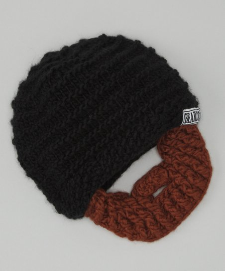 Black Beanie &amp; Brown Beard - Adult