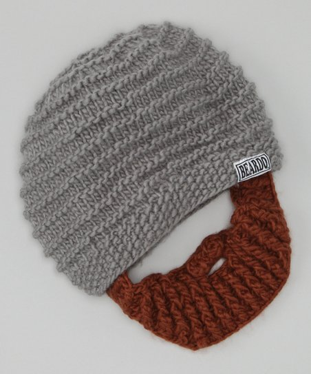 Gray Beanie &amp; Brown Beard - Adult