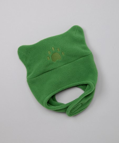 Green Chin Strap Beanie - Infant