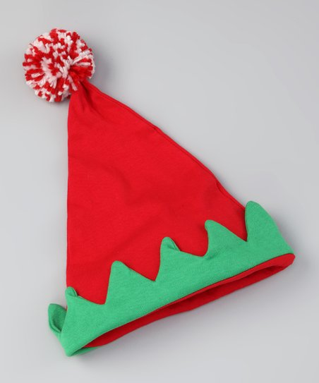 Red & Green Lil' Elf Hat