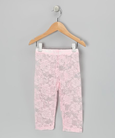 Pink Lace Leggings - Toddler & Girls