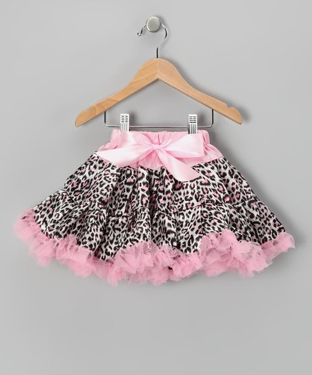 Pink Leopard Pettiskirt - Girls
