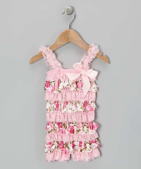 Pink Rose Ruffle Romper - Infant