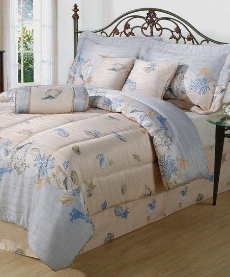 Shell Border Comforter Set