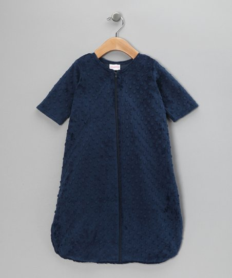 Navy Minky Sleeping Sack - Infant