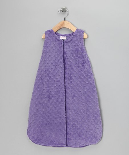 Purple Sleeveless Minky Sleeping Sack - Infant