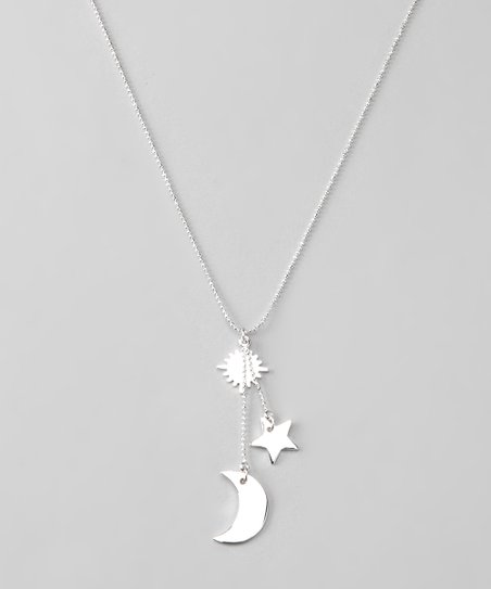 Silver Sky Pendant Necklace