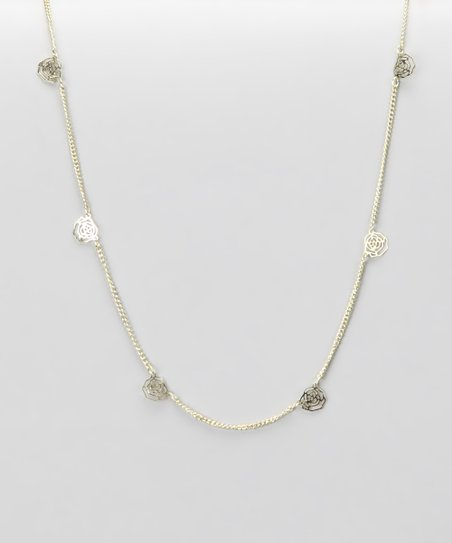 Gold Rose Nothing Necklace