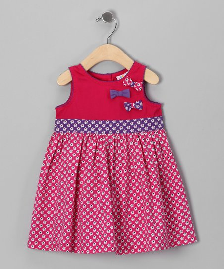 Pink Floral Bows Galore Dress - Infant, Toddler & Girls