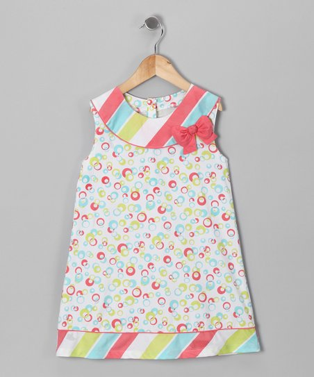Aqua & Pink Sherbet Yoke Dress - Infant