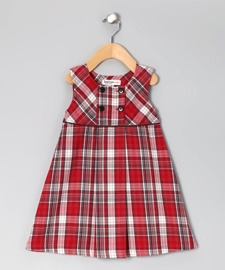 Red Plaid Dress - Infant & Toddler