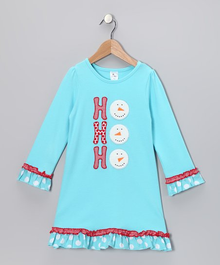 Aqua 'Ho, Ho, Ho' Swing Dress - Infant, Toddler & Girls
